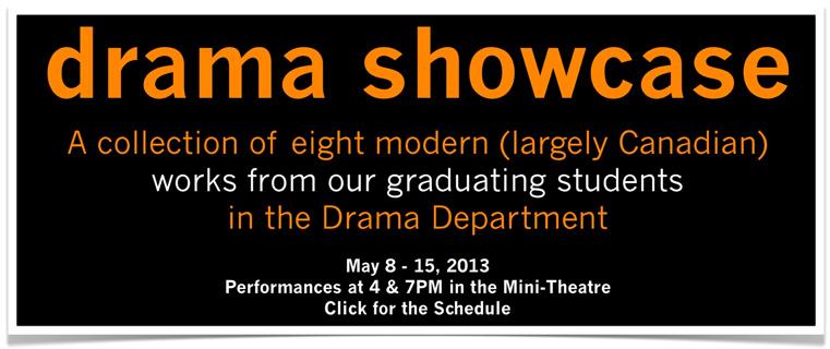 Grade 12 Drama Showcase!