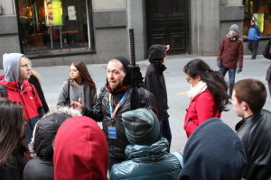 Our guide Brendan with the group
