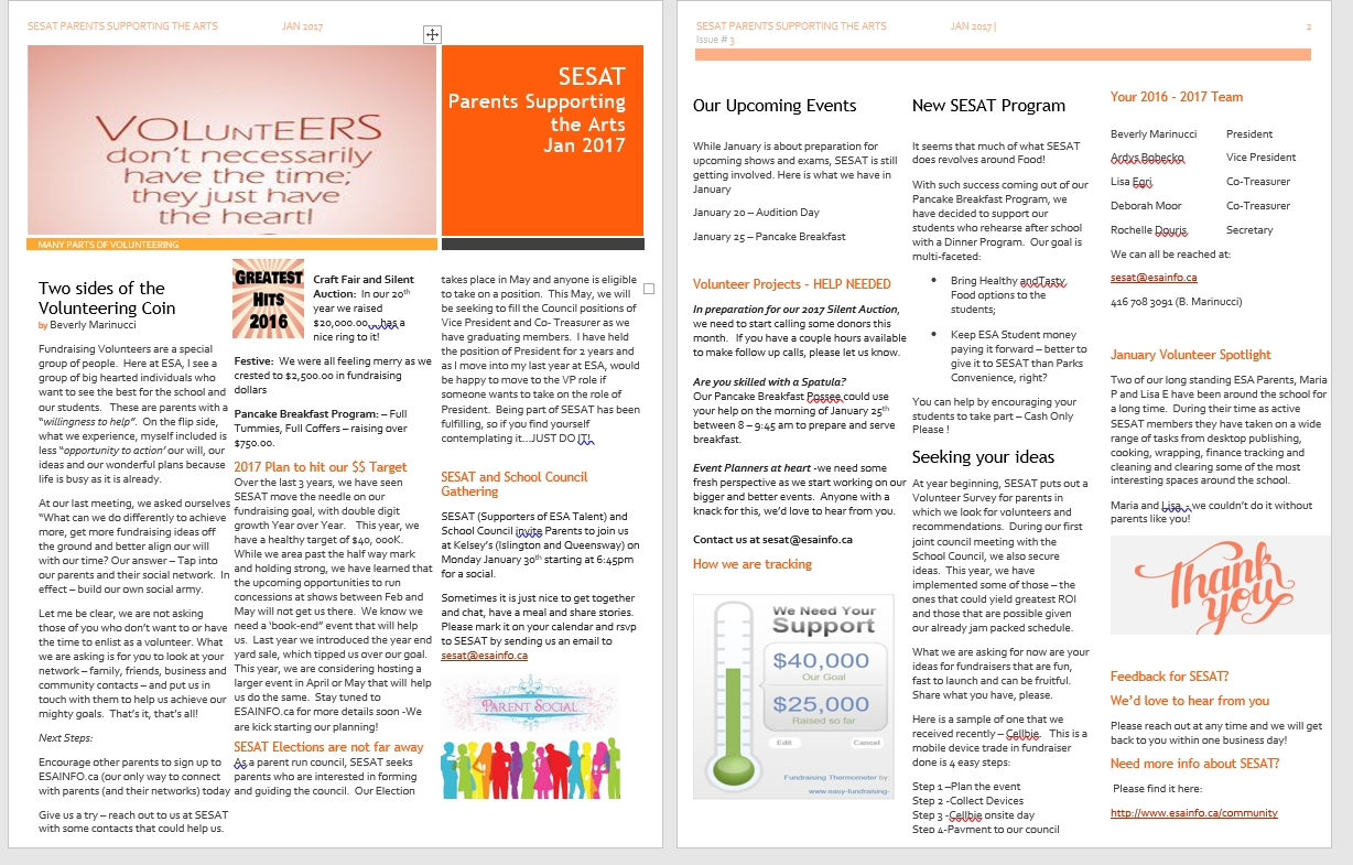 January SESAT Newsletter