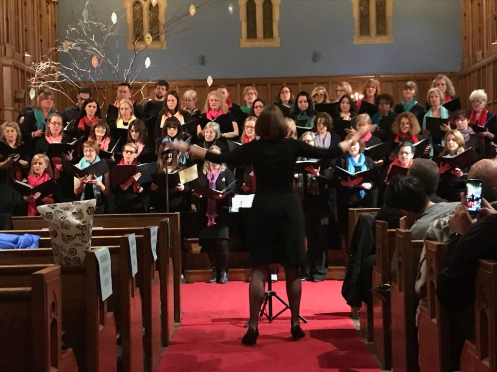 FACES choir performing in Show me a Smile Concert, February 28, 2018