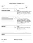 Drama Evaluation Form 2019