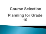 Course Selection Planning for Grade 10 2020 (2)